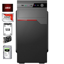Системный блок AMD Athlon 200GE/A320/DDR4_8Gb/SSD_240Gb/HDD_1000Gb/RX550_2Gb/DOS