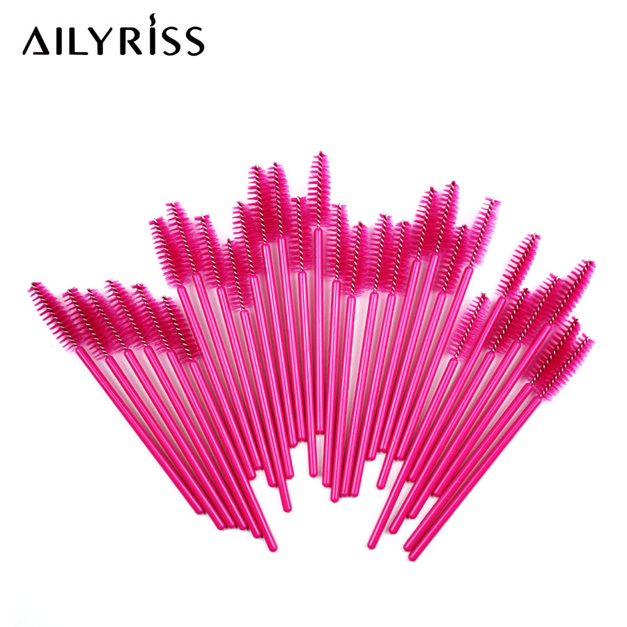 Disposable Mascara Wands 25/50pcs Makeup Brushes Eyelash Brush Mascara Applicator Makeup Brush Eyelash Extension Supplies