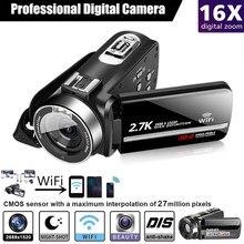 Appareil Photo numérique Portable Full HD 2.7K, avec Vision nocturne, caméscope SD, HDMI, 4K, DSLR, professionnel, 16X