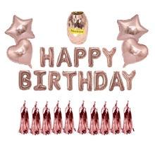 생일 축하 풍선 핑크 번호 Ballons 성인 18/21/30/40/50/60 생일 Baloes 풍선 파티 장식 기념일