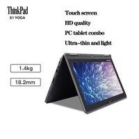 Thinkpad usado portátil lenovo s1 yoga pc touchable dois-em-um tablet 12.5 polegadas ultra-fino computador portátil win10 sistema inglês