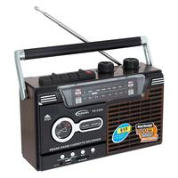 Retro Radio 4 bands with cassete recorder and reproducer MP3. Free Shiping from Spain