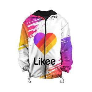 Детская куртка 3D «Likee 1 (LIKE Video)» для мальчиков и девочек, Комфортная куртка с рисунком