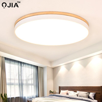 LED Ceiling Lights For Bedroom Foyer Round Metal Acrylic Lighting Lamparas de techo Restaurant Living Room With Remote control
