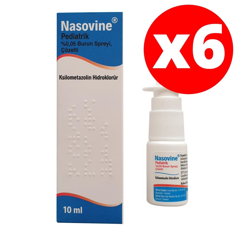 Nasovine Pediatric Nose Spray 0.05%  - 10 Ml - Nasal Congestion, Seasonal And Allergic Rhinitis And Sinusitis