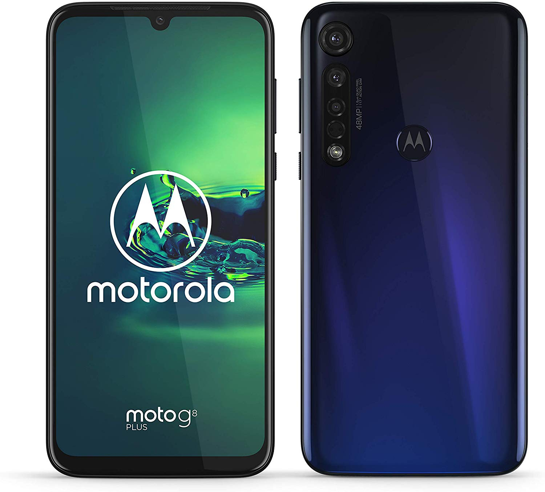 Motorola Motorbike G8 Plus, Blue Color, 64 GB ROM, 4 GB RAM, Dual SIM, FHD Screen 6,3