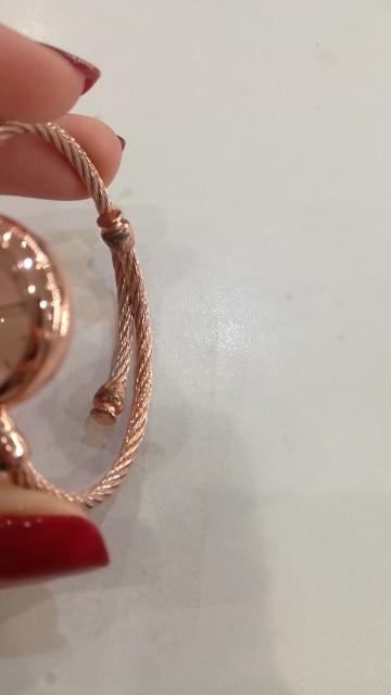 Small Gold Bangle Bracelet Luxury Watches Stainless Steel Retro Ladies Quartz Wristwatches Fashion Casual Women Dress Watch photo review