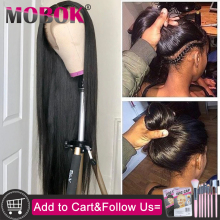 360, парик с фронтальной тесьмой, предварительно выщипанные с детскими волосами, Remy, человеческие волосы, парик с кружевом, бразильские прямые волосы, парик из натуральных волос