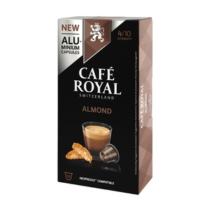 Almond, coffee Royal 10 compatible Nespresso aluminum capsules