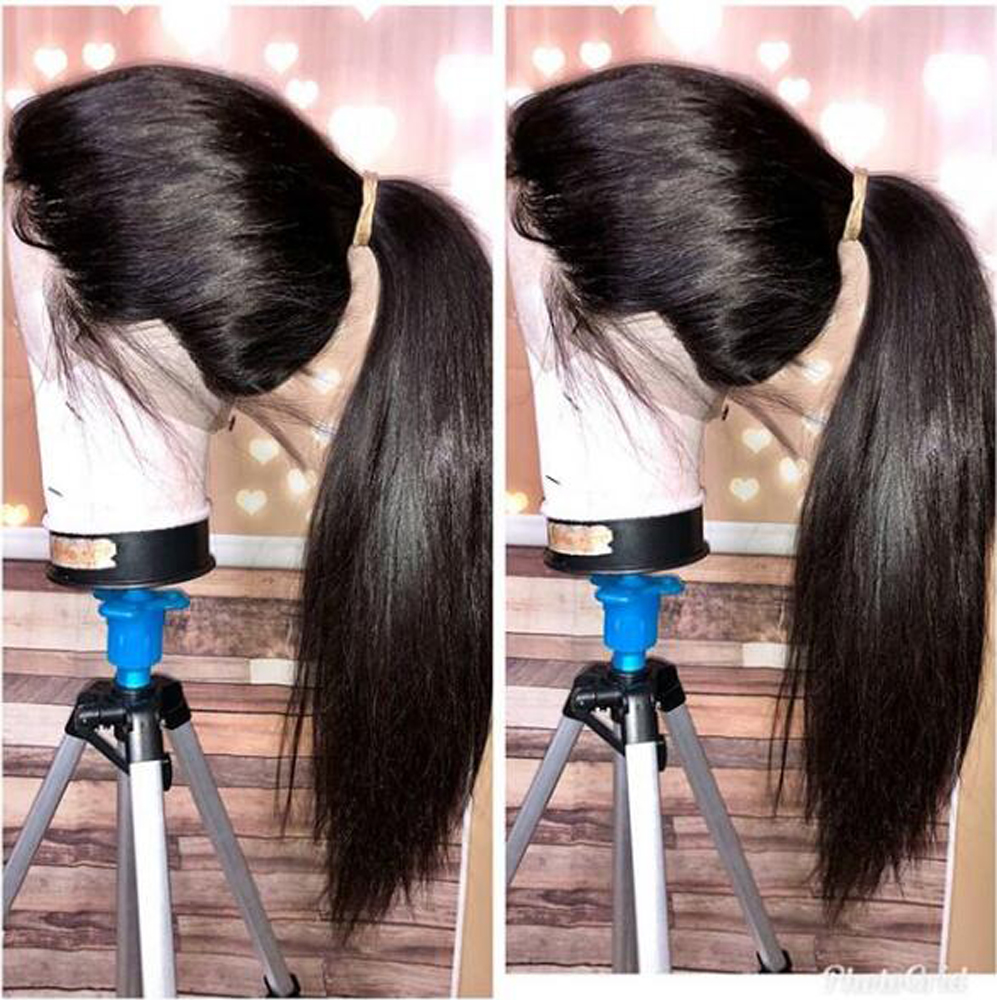 Image 3 - 13x4 Lace Front Human Hair Wigs Pre Plucked Hairline Baby Hair Brazilian Straight Lace Front Wigs Bleached Knots Remy QT Hair-in Human Hair Lace Wigs from Hair Extensions & Wigs
