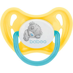 Pacifier silicone Baboo Me to You 6 months, yellow