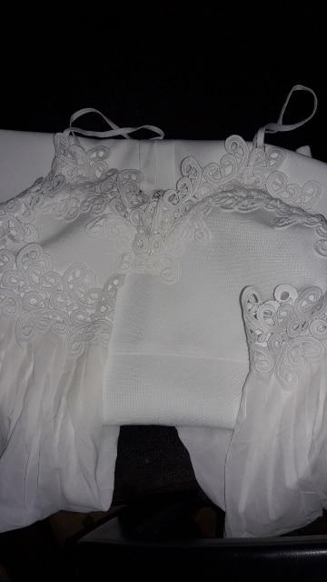 Autumn Women Bandage Dress Sexy Flare Sleeve White Lace Midi Dress Vestidos Elegant Celebrity Evening Party Dress photo review