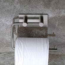 Toilet Paper Holder Self-Adhesive  Kitchen Roll Paper Shelf Stainless Steel Rack Bathroom Paper Towel Rack Hot Toilet Paper Clip цены