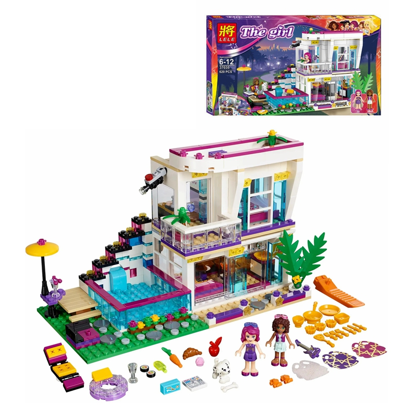 620PCS Building Blocks Girls Livi's Pop Star House Bricks Compatible Girls Friends Kids Toys for Children 41135 image
