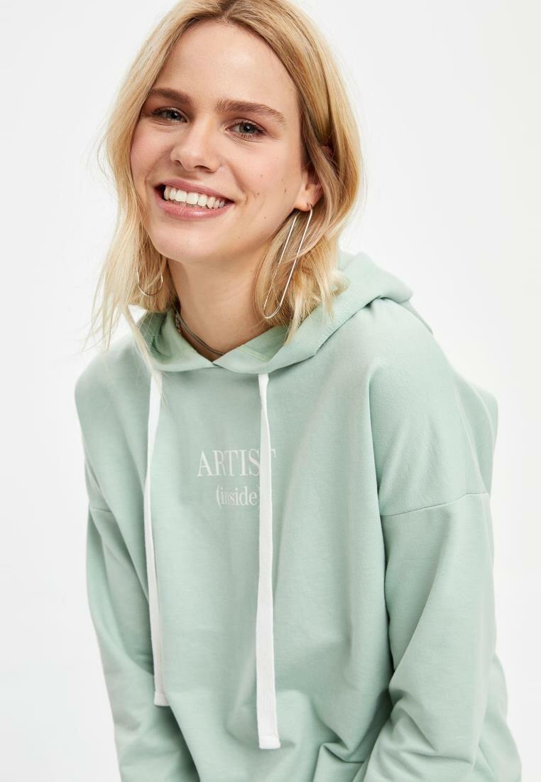 DeFacto Woman Sweatshirt Men's Casual Spring Basic Color Hoodies Women's Hooded Sweatshirts-N2780AZ20SP