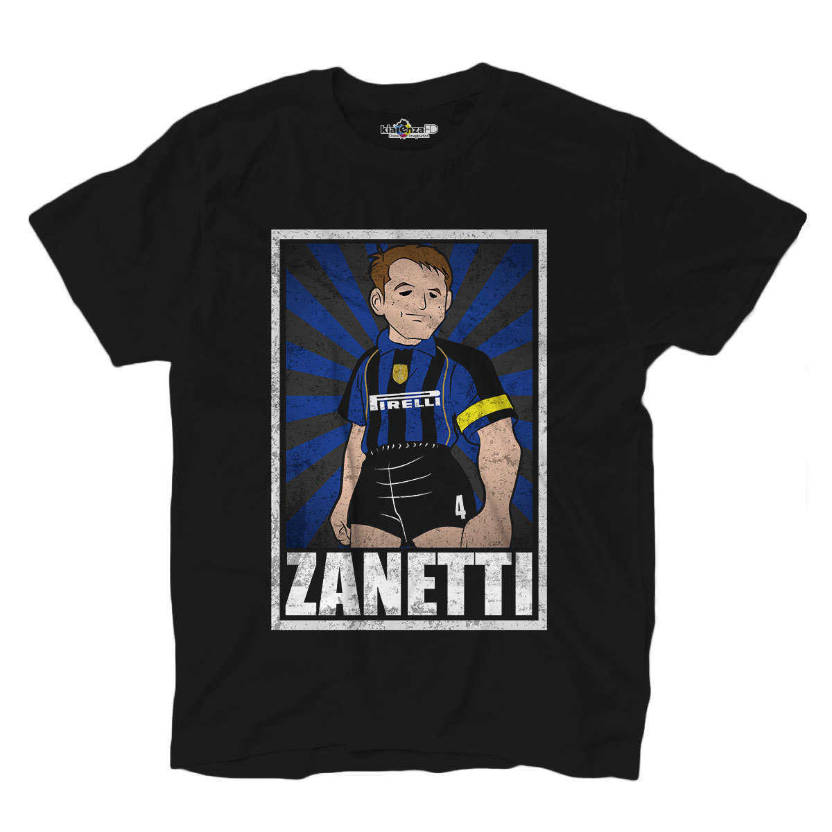Football <font><b>T</b></font>-<font><b>shirt</b></font> <font><b>T</b></font> <font><b>Shirt</b></font> Vintage Zanetti <font><b>Inter</b></font> <font><b>Milan</b></font> Legend Spoof Holly and Benji Grunge S image