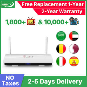 IPTV Leadcool Tv-Box Belgium Spain France Arabic Android French 1-Year