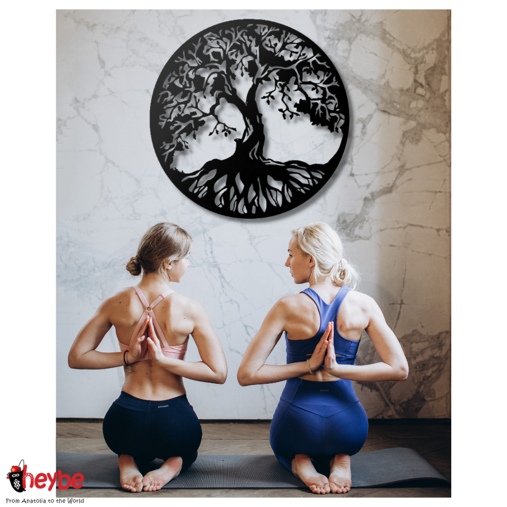 Tree of Life Metal Wall Decor Living Room Bedroom Kitchen Home Office Nature Plant Decoration Hanging Plaque Nordic Styles Frame New Fashion Trend Art Design Luxury Modern Creative Stylish Quality Gift