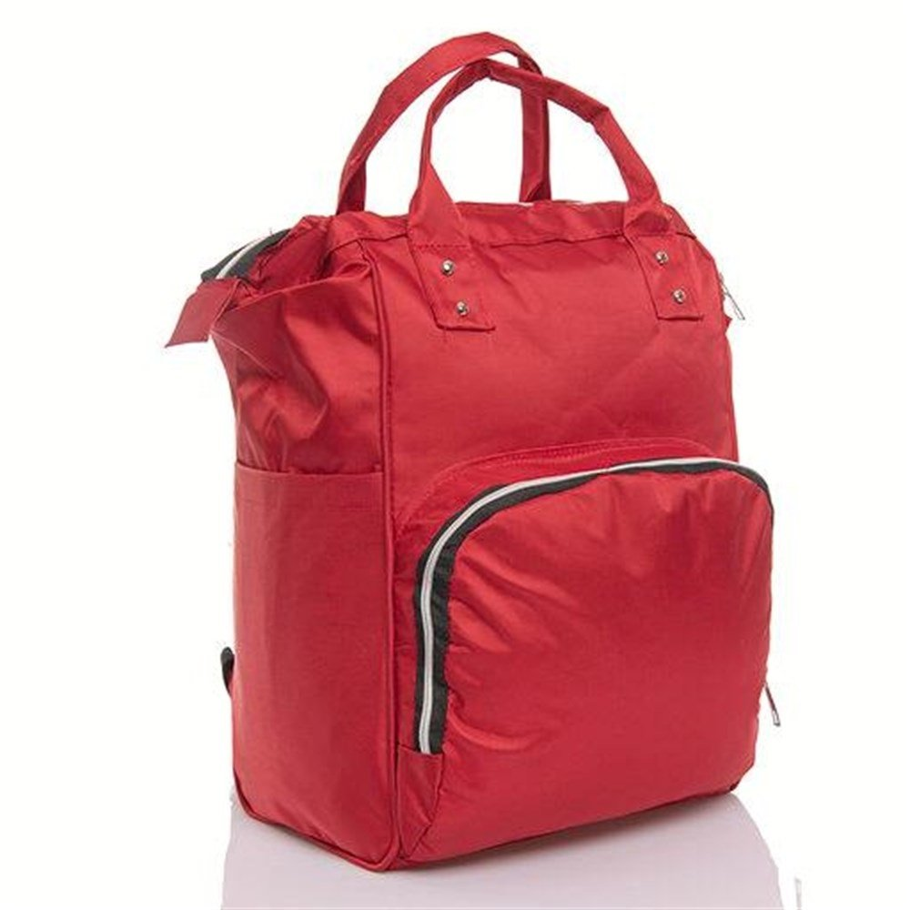 Red Mother Baby Backpack