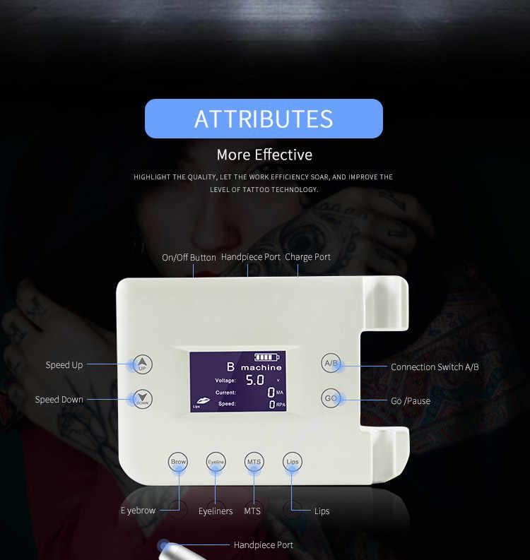 V6 Thường Trực Máy Trang Điểm Bộ Quay Hình Súng Kỹ Thuật Số Microblading Máy Bút Di Động PMU Tiếp Liệu