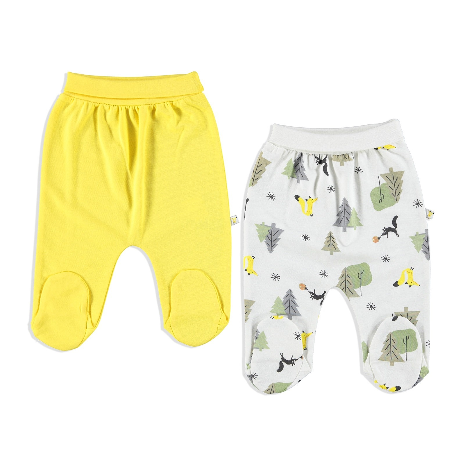 Ebebek Carmin Baby Little Fox Interlock Footed Pants 2 Pcs