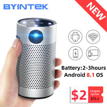 Byintek p7 projetores de bolso portátil pico inteligente android wifi 1080p 4k tv laser mini led cinema em casa telefone dlp projetor