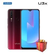 Vivo оригинальный U3x Snapdragon 665 Восьмиядерный Celular 5000 мАч аккумулятор 18 Вт флэш Зарядка 4G 64G тройные задние камеры U1 U3x смартфон
