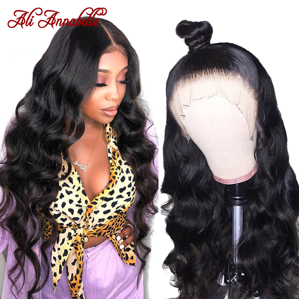 Lace Front Human Hair Wigs Brazilian Body Wave Lace Front Wigs With Baby Hair Pre Plucked Ali Annabelle 13*6 Human Hair Wigs