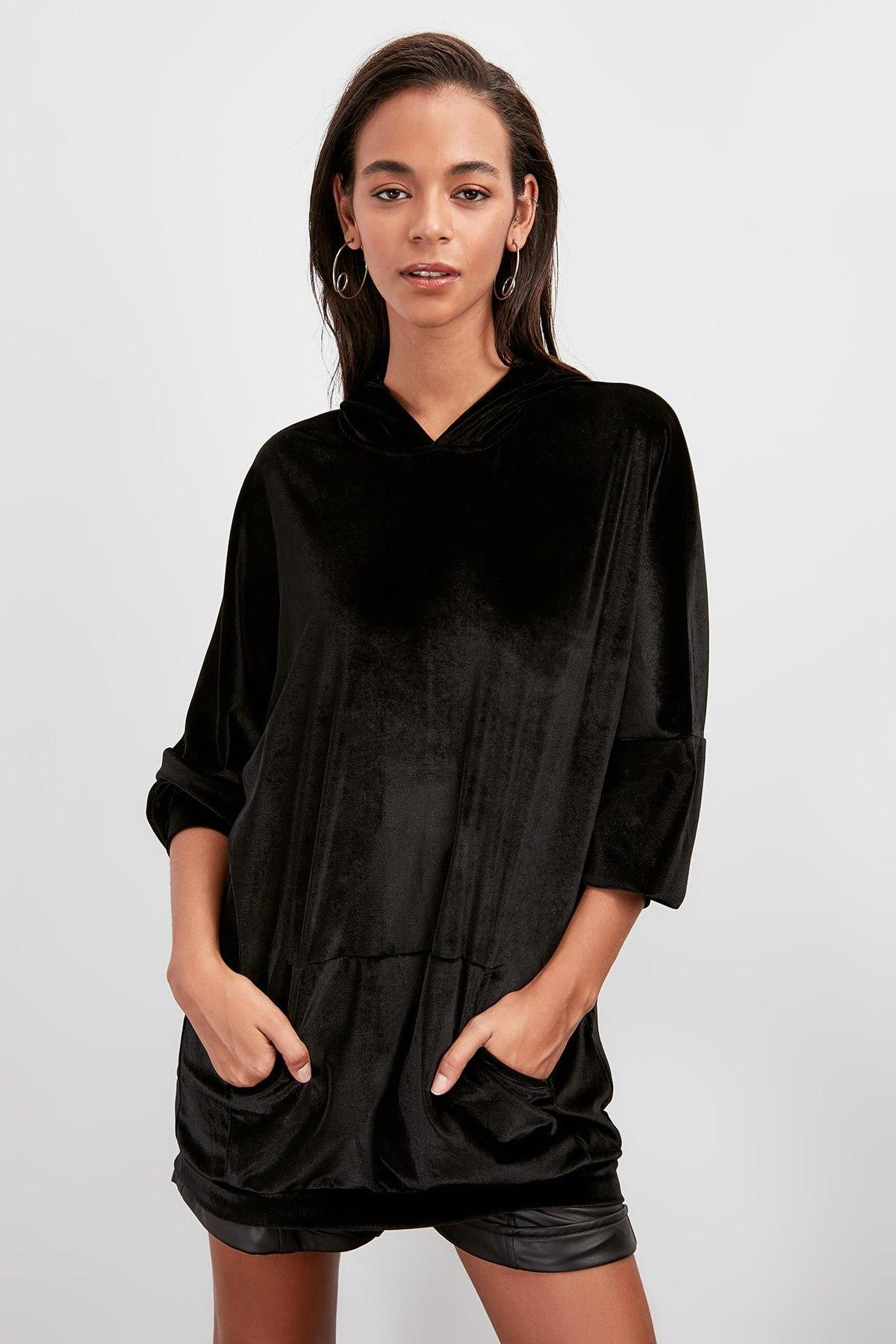 Trendyol Velvet Knitted Sweatshirt TWOAW20SW0543