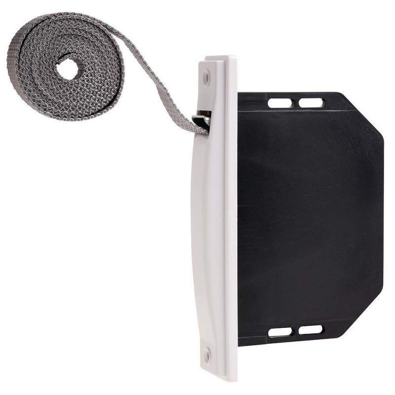 Dustpan Blind Mini White Tape 18mm. Recessed Without Pivots