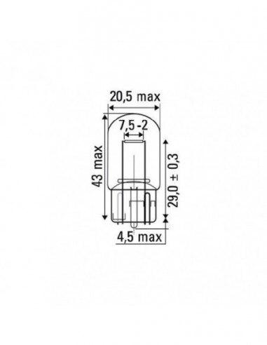 JBM 52862 LAMP OBN WEDGE 21W 12V T20
