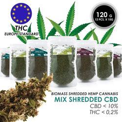 Конопляные цветы CBD и листья измельченные биомассы из Италии THC
