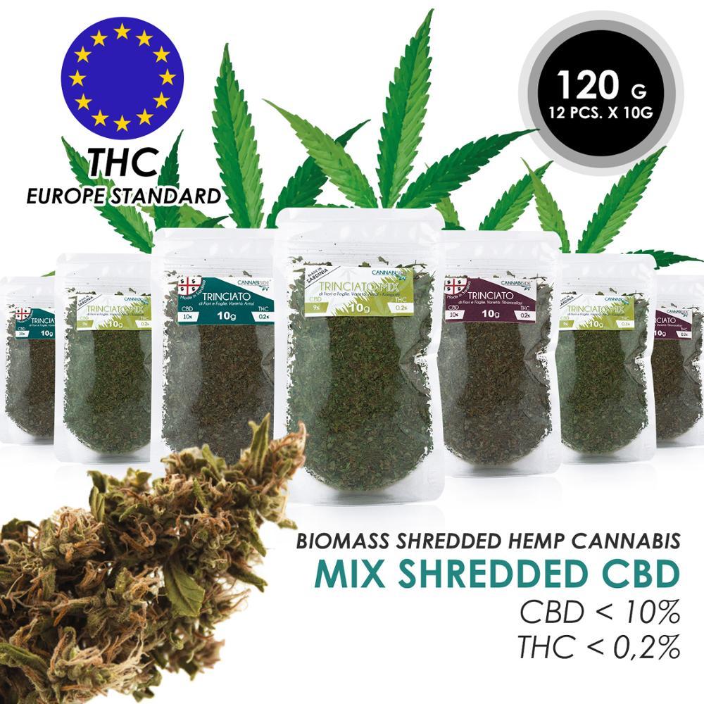 Hemp Flowers CBD And Leaves Shredded Biomass From Italy THC