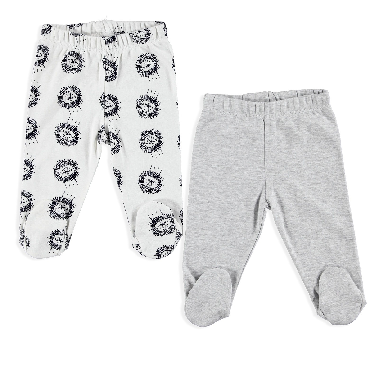 Ebebek For My Baby Little Lion Footed Pants 2 Pcs