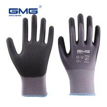3 Pairs Safety Work Gloves GMG Nylon Spandex CE Certificated EN388 Microfine Foam Gloves Nitrile Safety Working Gloves Men