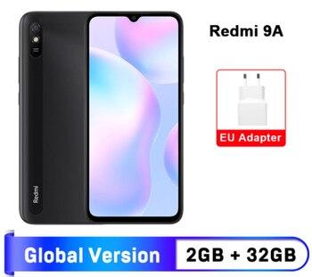 Перейти на Алиэкспресс и купить Глобальная версия Xiaomi Redmi 9A мобильный телефон 2 Гб оперативной памяти, 32 Гб встроенной памяти, Процессор MTK Helio G25 Octa Core 6,53 дюйм5000 мА/ч, 13MP камеры см...
