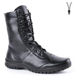 Botas de tobillo negras con cordones de cuero genuino de demisease para hombre, zapatos altos, botas militares planas 5023/11WA