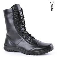 demiseason genuine leather lace up black army ankle boots men high shoes flat military boots 5023 / 11WA