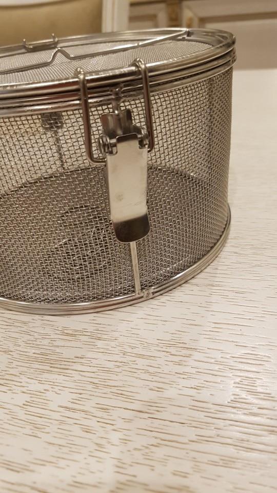 Kitchen Silver Cylinder Colander photo review