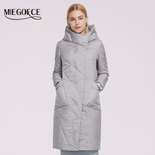 Women's Coat Hooded-Jacket Parka Spring Autumn Windproof New Casual MIEGOFCE Zipper Oblique-Design