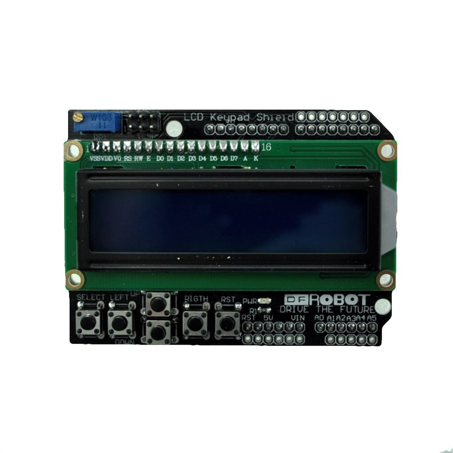 LCD1602 Keypad Shield for Arduino [Arduino Compatible] 20pcs 10pin female tall stackable header connector socket for arduino shield black