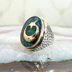 925 пробы Серебряное кольцо с полумесяцем