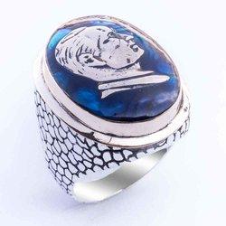 925 sterling Silber Ataturk Ring
