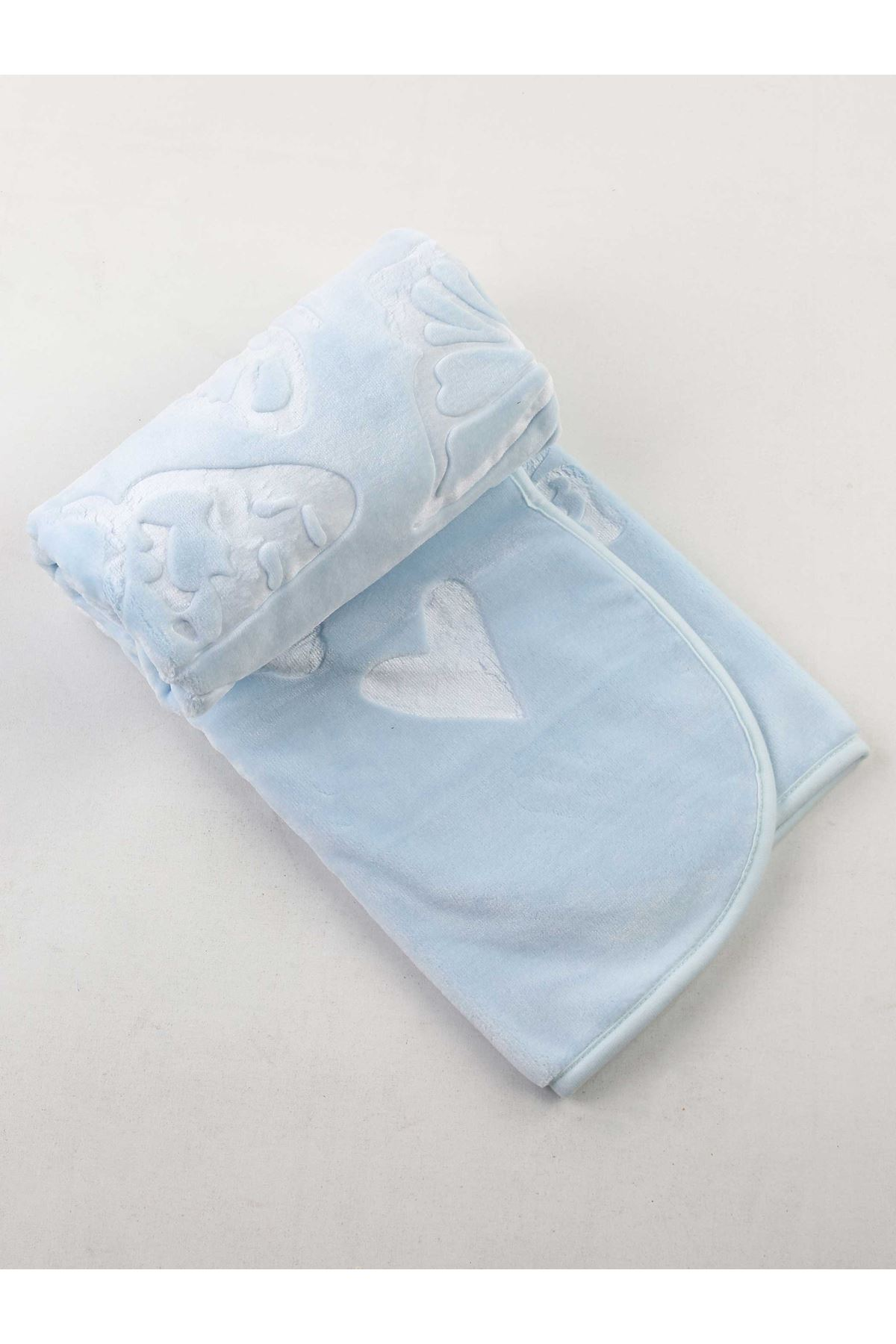 Blue Plush 120x100 Male Baby Blanket