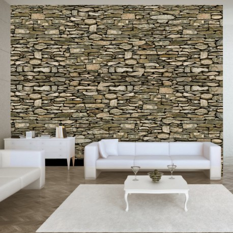Photo Wallpaper-Stone Wall