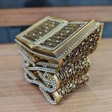 Dekor hediyelik eşya porselen modern süs altın renk dini hediyelik eşya ALLAH MUHAMMED yazılı biblo
