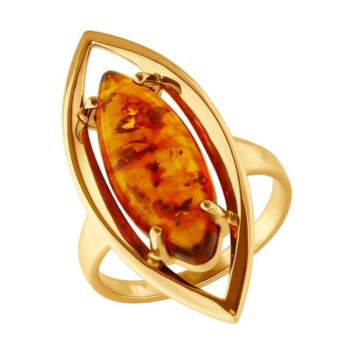 SOKOLOV Ring Gilded With Silver Amber (abs.)