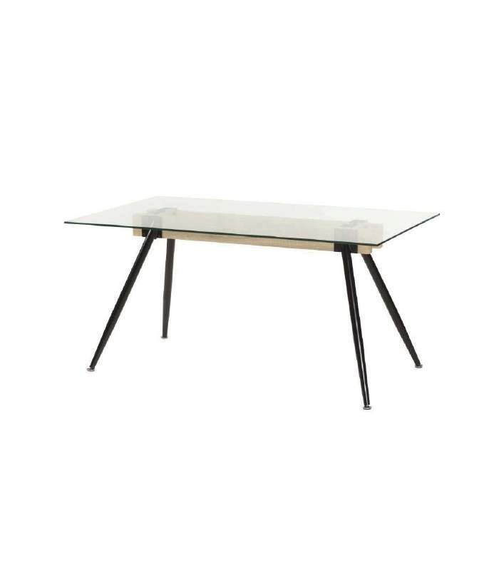 Dining Table Yako Crystal Legs Black Color.