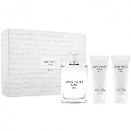JIMMY CHOO ICE MAN EDT 100ML + AFTER SHAVE 150ML + SHOWER GEL 150ML