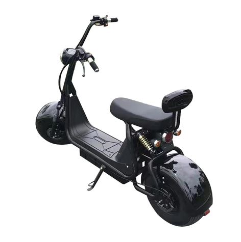 Big Harley BTSpeaker Tyre Double Seat New Style Harley 1000W 2-wheel Electric Scooter Motorcycle -BLACK